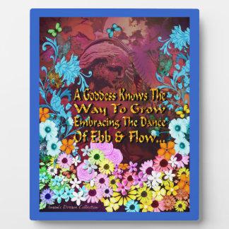 Garden Goddess Ebb & Flow Picture Plaque
