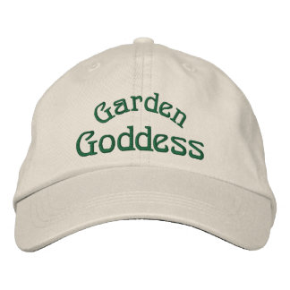 Garden Goddess Funny Embroidered Cap