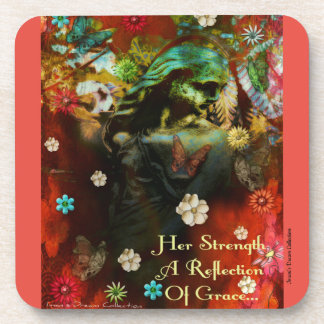 Garden Goddess Reflection Coaster Set