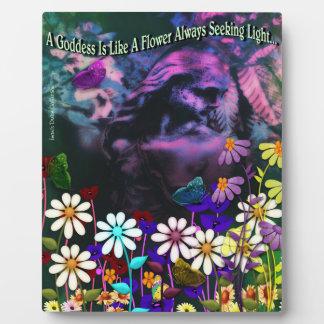 Garden Goddess Seeking Light Picture Plaque