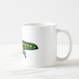 Garden Green Pea Pods Basic White Mug