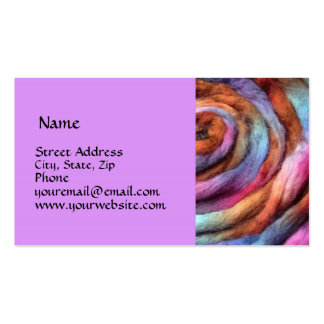 Garden Hand Dyed Roving Business Card