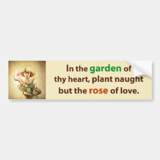 Garden Heart Bumper Sticker