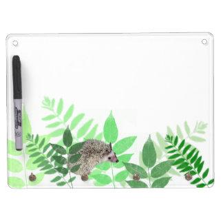 Garden Hedgehog Dry Erase Board With Key Ring Holder