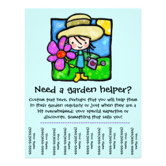 Garden Helper/Yard care promotional flyer