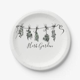 Garden Herbs Paper Plate