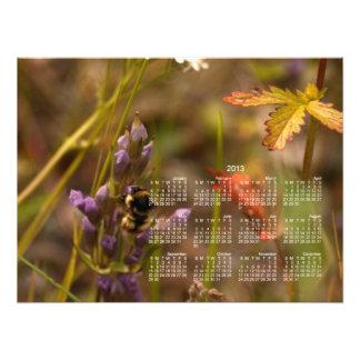 Garden HoneyBee; 2013 Calendar Art Photo