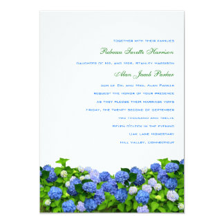 Garden Hydrangea Wedding Invitations, 5x7 13 Cm X 18 Cm Invitation Card