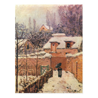 Garden in Louveciennes in the Snow Alfred Sisley Postcard