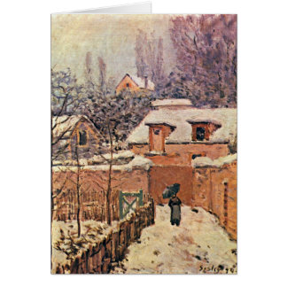 Garden In Louveciennes,Winter By Alfred Sisley Card