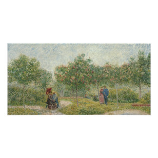 Garden in Montmartre with Lovers by Van Gogh Photo Card