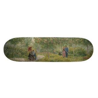 Garden in Montmartre with Lovers by Van Gogh Skateboard Decks