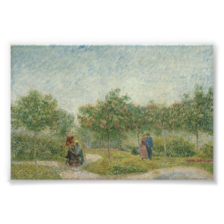 Garden in Montmartre with lovers Photograph