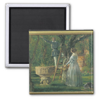 Garden in Ringsted with a Ancient Baptismal Square Magnet