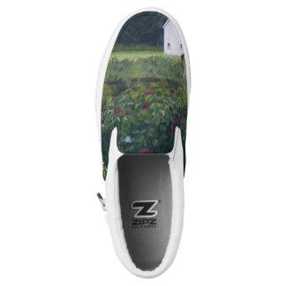 Garden in the back landscape Slip-On shoes