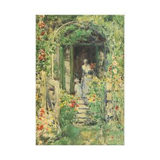 Garden in the Glory Childe Hassam Fine Art Canvas Print
