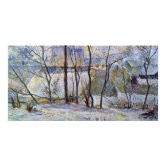 Garden In The Snow By Gauguin Paul (Best Quality) Photo Card Template