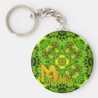"""""""Garden Inlay"""" Mandala Mandarin Logo keychain"""