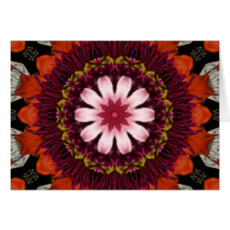 Garden  Kaleidoscope Greeting Card