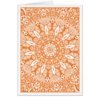 Garden Kaliedoscope 03 - Orange Card