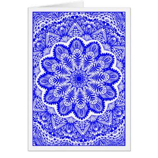Garden Kaliedoscope 04 - Blue Card