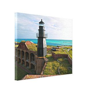 Garden Key Lighthouse, Dry Tortugas Florida Canvas Print