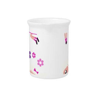 Garden kids pink pitcher