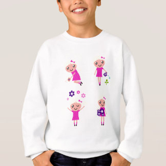 Garden kids pink sweatshirt