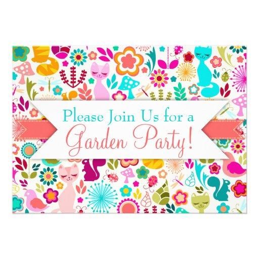 Garden Kitty Custom Invites