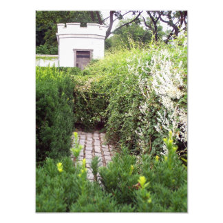Garden Labyrinth in the Castle Walls Photo Art