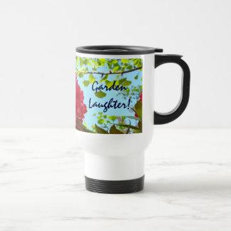 Garden Laughter! Coffee Mug Red Rhodies Gardens