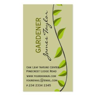 Garden Leaf Gardening Green Customized Nature Pack Of Standard Business Cards