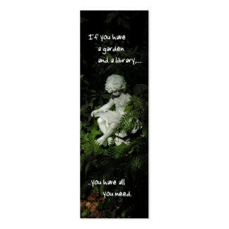 Garden Library Bookmark Business Card Templates