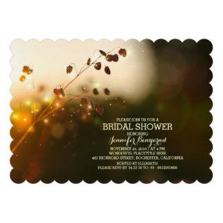 garden lights rustic bridal shower invitation