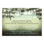 garden lights wedding accommodation cards personalized announcement
