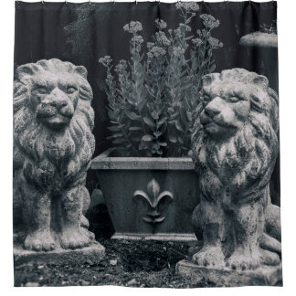 Garden Lions Shower Curtain
