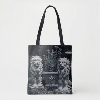 Garden Lions Tote Bag