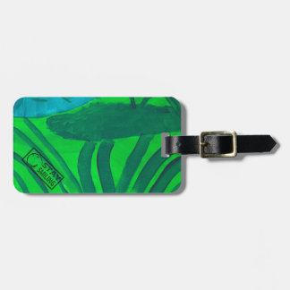 Garden Map Luggage Tag