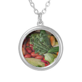 Garden Medley Silver Plated Necklace