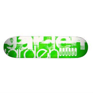 Garden; Neon Green Stripes Skate Board Decks