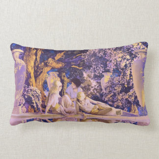 Garden of Allah, by Maxfield Parrish Lumbar Cushion