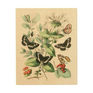 Garden of Butterflies and Flowers Wood Wall Decor
