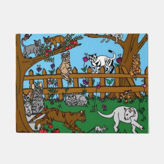 Garden of Cats Doormat