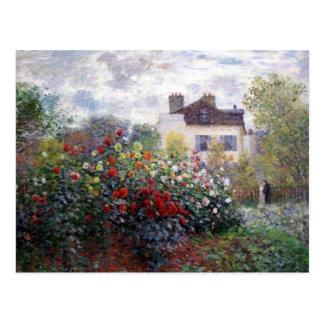 Garden of Dahlias Fine Art Postcard