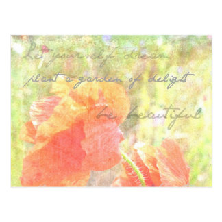 Garden of Delight Poppies Postcard