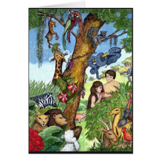 Garden of Eden greeting card