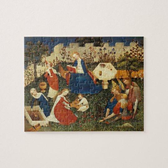 Garden of Eden mediaeval art Jigsaw Puzzle