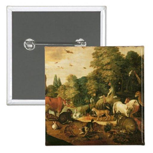 Garden of Eden (oil on canvas) Pin