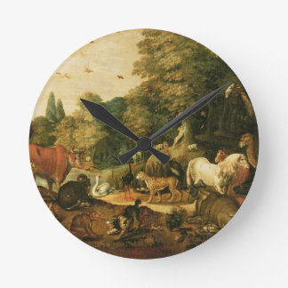 Garden of Eden (oil on canvas) Clock