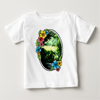 Garden of Eden with Colorful Frame Baby T-Shirt